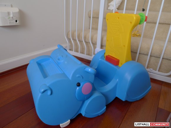 Fisher Price Gobble 'n Go Hippo Walker / Ride on Toy