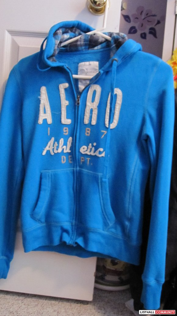 Blue Aeropostale Zip Up Jacket Ashcatchum List4all