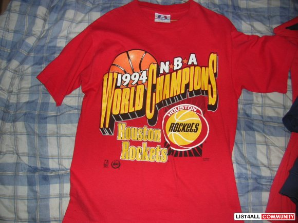 buy online 1243a 7424f 1994 NBA Houston Rockets Vintage Championship Shirt ...