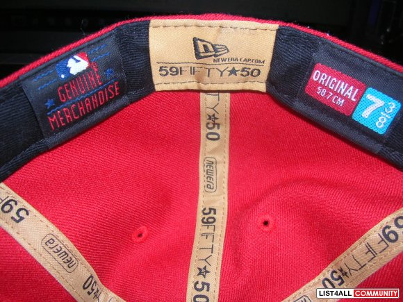 Fitted Red NewEra 7 3/8 New York Yankees MLB Hat