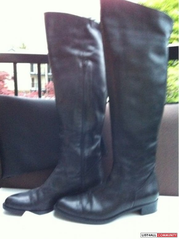 Black leather boots from Browns