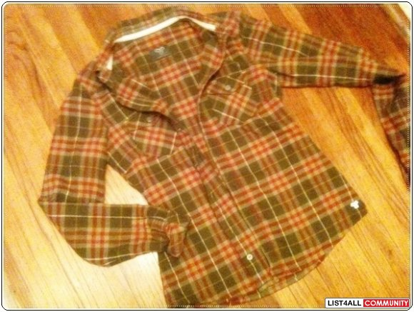 TNA BOYFRIEND PLAID sz S