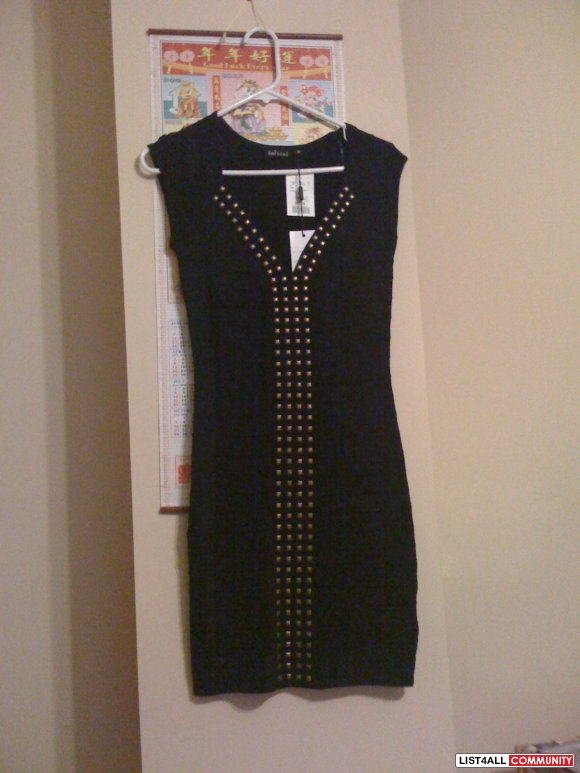 brand new w/ tags bandage studded dress