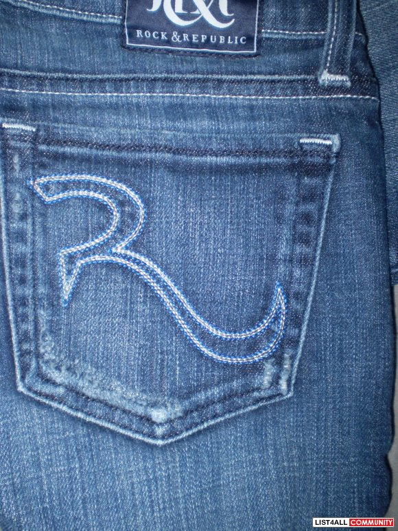 Authentic R&R Kassandra Jeans in Amethyst Blue