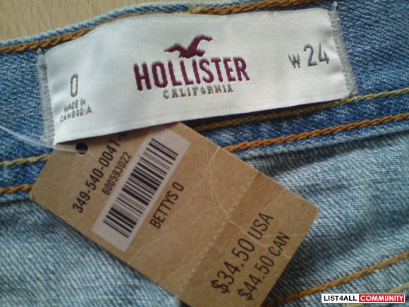 New Hollister Light Wash Denim Shorts Fashion Guru