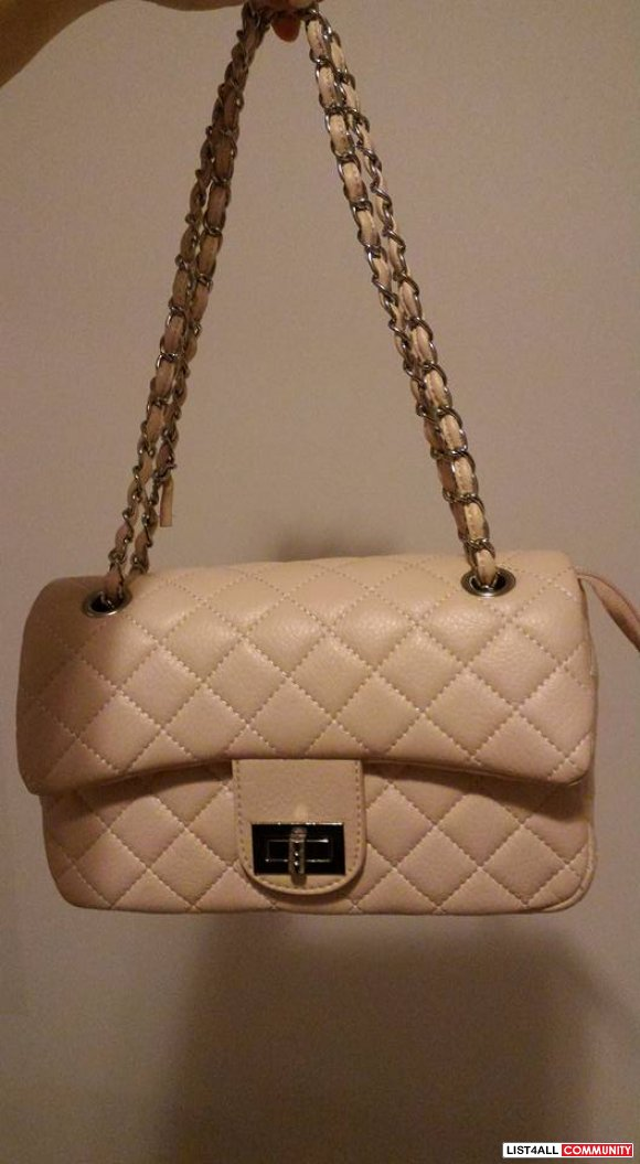 Baby Pink Quilted Bag w/ Chain
