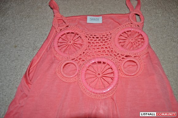 Pink Suzy Shier Tank