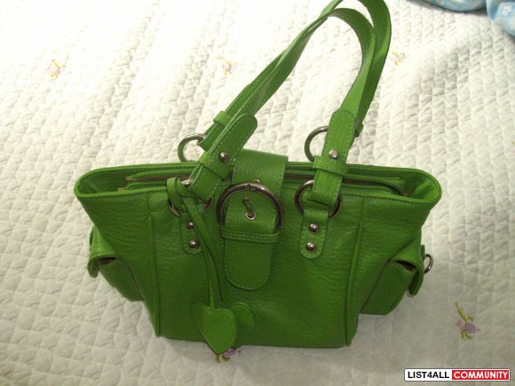 Cute Green Leather Handbag