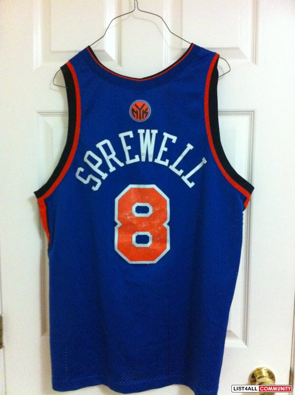 NBA New York Knicks Latrell Sprewell Nike away jersey    jakemolsen ... 4911c9599