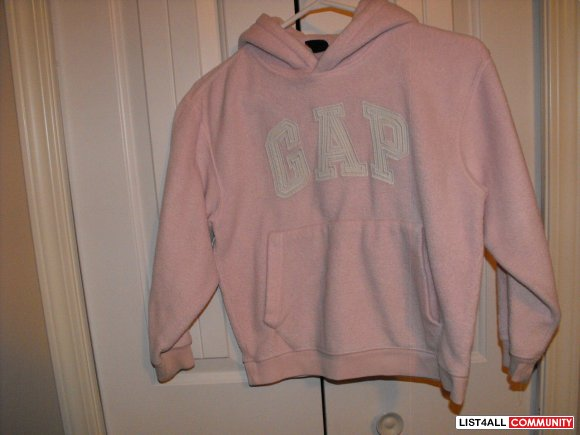 Gap Pink Fleece Pullover Size 7/8