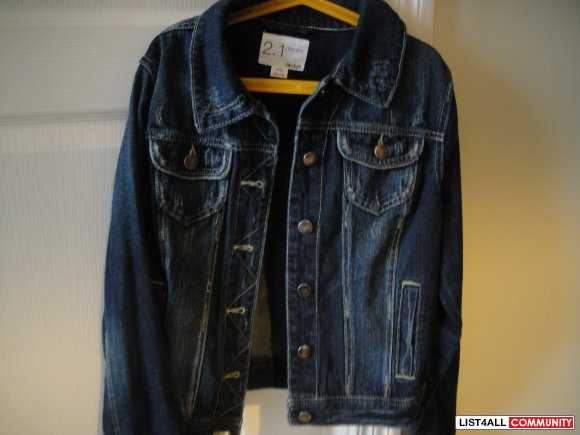 Jean Jacket-Forever 21 (size M)