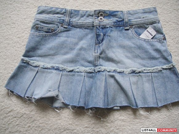 Jean Mini Skirt -Size 3