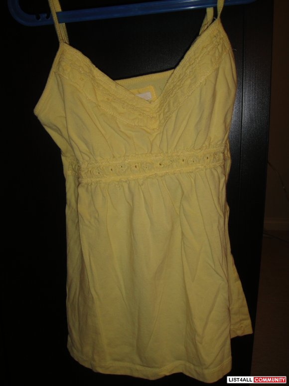 Yellow Babydoll tank-size M(but fits more like a S)