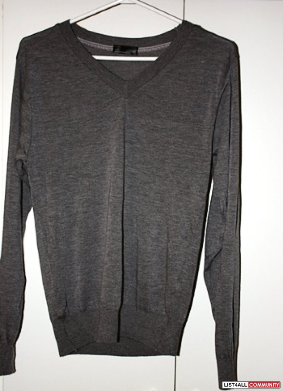 NEW American Apparel Unisex Knit Sweater V-Neck