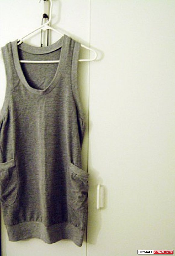 NEW gray casual dress with pockets ON SALE $15