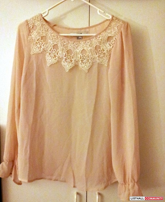 NEW Forever 21 nude shirt - size small