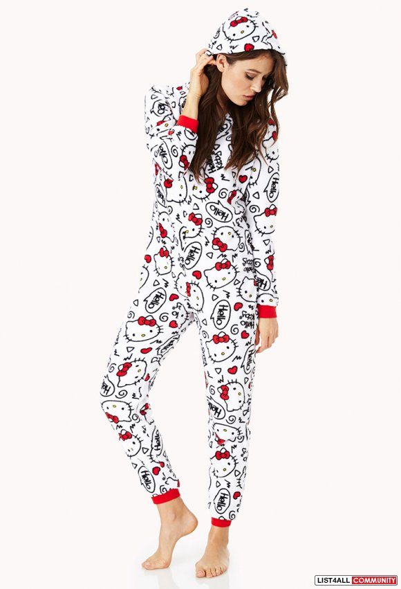 NEW forever 21 hello kitty onsie - size small