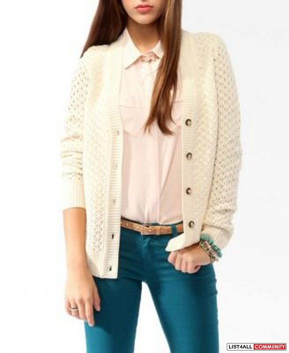NEW Forever 21 knit cardigan - size med