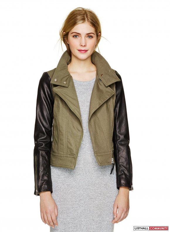Mackage leather sleeve jacket - size xxs