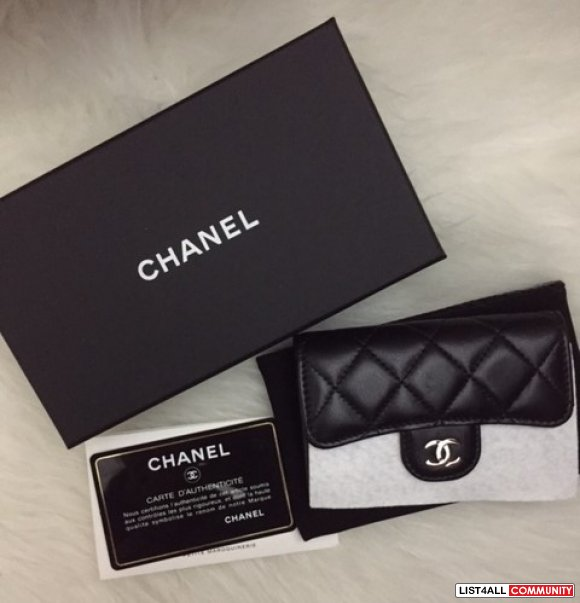 Authentic Chanel Card Holder SHW