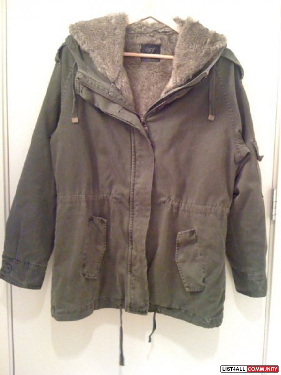 ZARA Parka w/ Removable Fur Lining