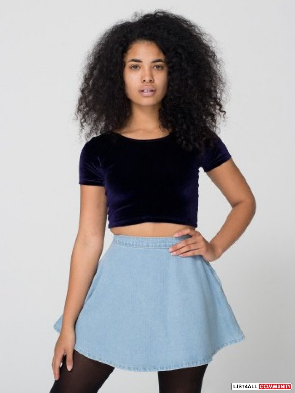 AMERICAN APPAREL - Jean Circle Skirt Sz 24** :: queenstar :: List4All