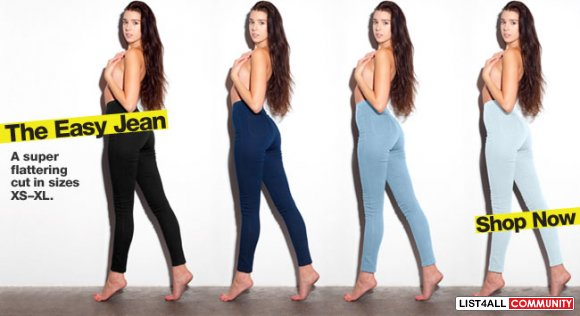 XS American Apparel Easy Jean - GREY