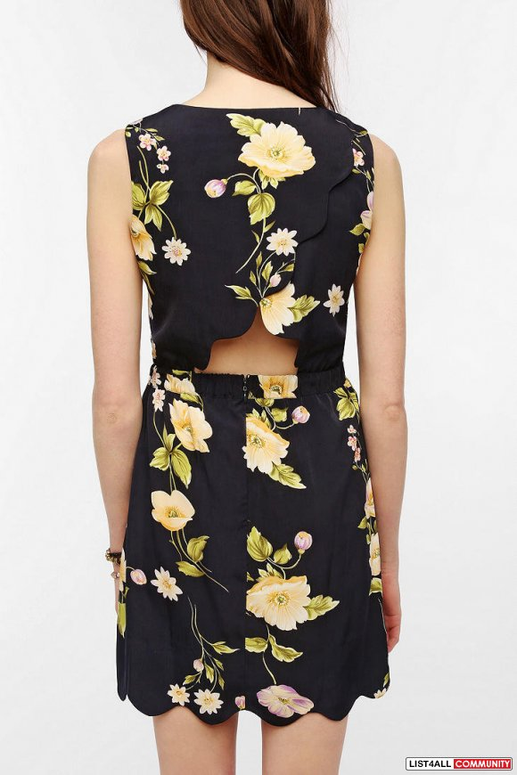 Urban Outfitters-byCORPUS Silky Scallop Hem Dress* - Sz XS