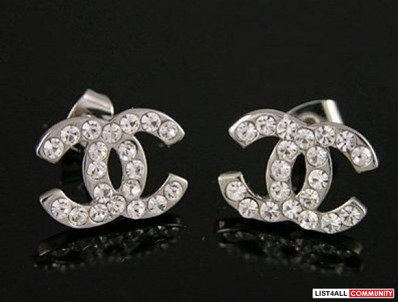 Chanel Double c Stud Earrings Chanel Double c Stud