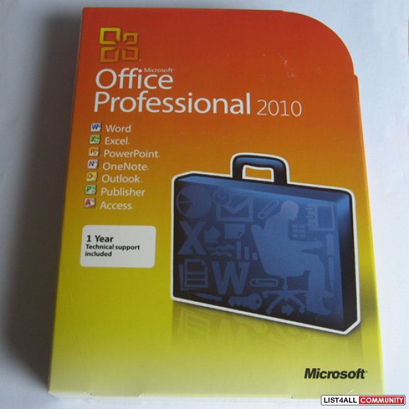 Microsoft Office Professional 2010 NEW