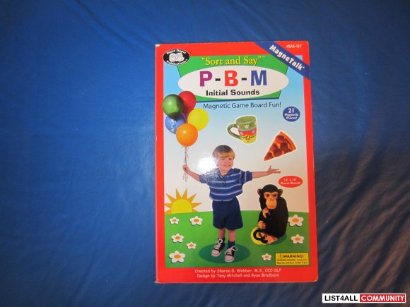 "Magnetic Game ""Sort and Say"" P-B-M Initial sounds"