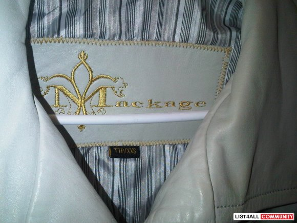 Authentic Beige Mackage Jacket XXS