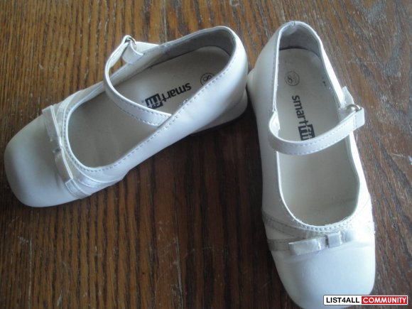 Toddler Girls Ivory Dress Shoes Sz 8.5