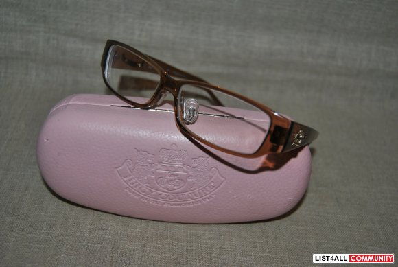 juicy couture dram eyeglasses 01x7 brown drama queen
