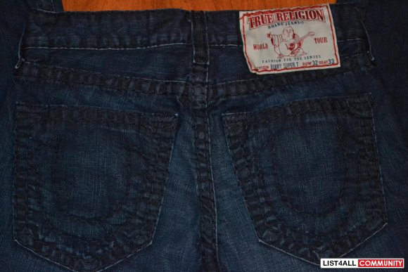 True Religion Bobby Super T 32x33 (Pre-Owned) LIKE NEW