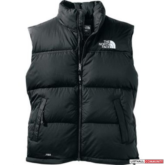 Mens Vest: XL North Face 700 Nuptse Black