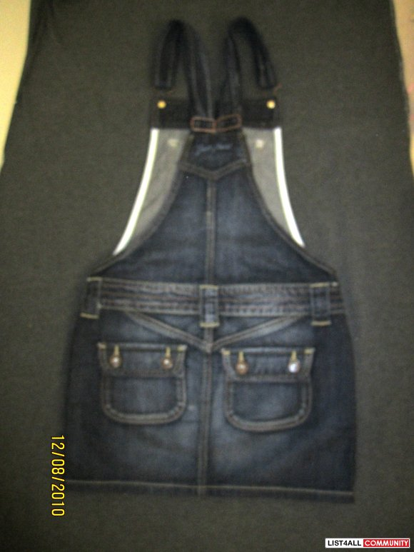 2a70c1d37b Guess by Marciano Jean Overall Skirt XS-price reduced!!    goodies4u ...