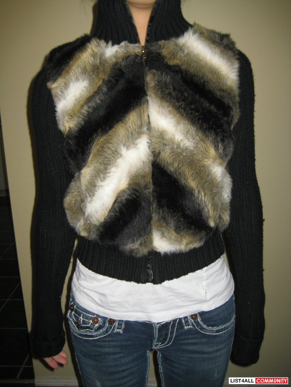 Talula Faux Fur Sweater/Jacket Sz XS  SALE $20