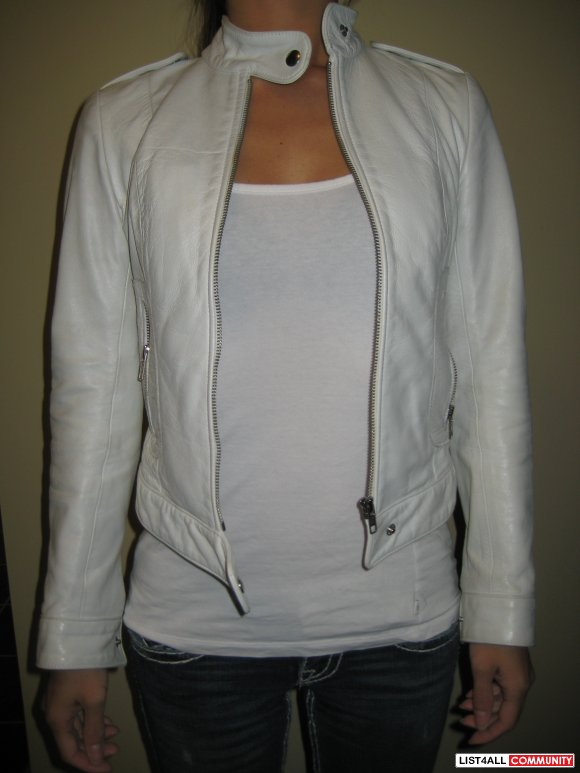 Talula White Leather Jacket Sz XS  SALE $100
