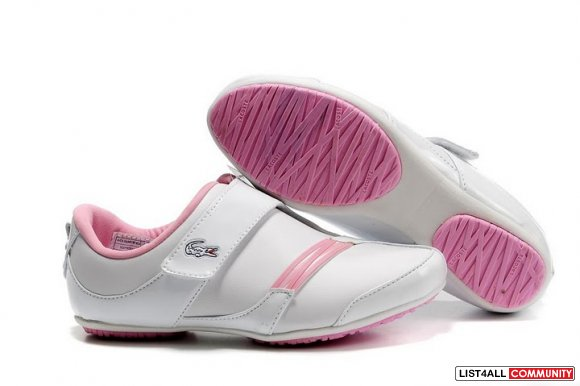 Lacoste swerve white pink womens leather casual shoes