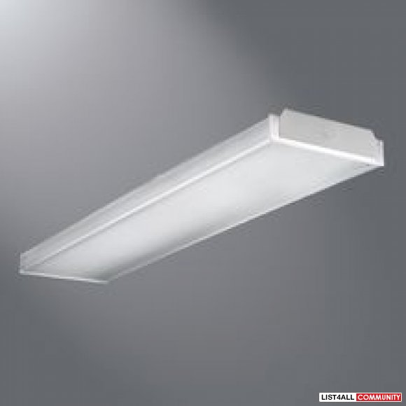 wrap around fluorescent fixture 347v new lighting list4all. Black Bedroom Furniture Sets. Home Design Ideas