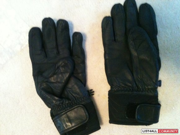 North Face Leather Ski/Snowboard Gloves Size: Large