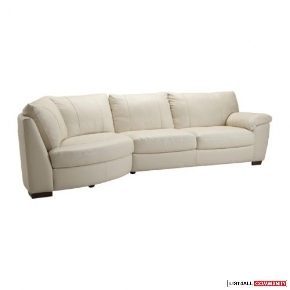 Small Corner Sofa No Arms: IKEA VRETA Corner Leather Sofa With Arm Right
