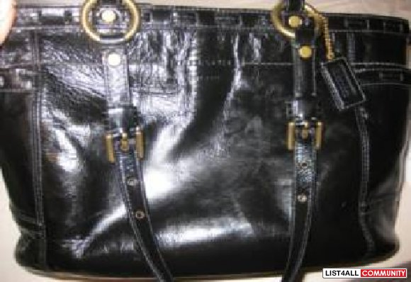 Authentic Coach Patent Leather  Gallery Tote Handbag Sold for $100