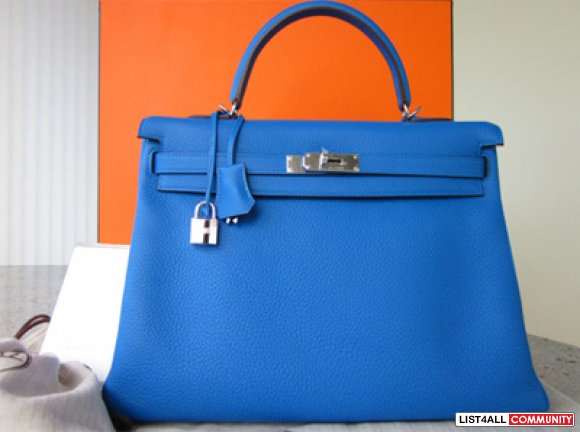 hermes paris bags - Brand New in box clemence Hermes Kelly bag 35 in Mykonos ...