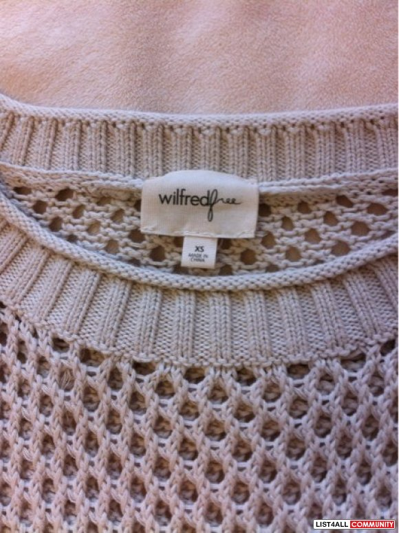 Aritzia Wilfred Free Gray Sweater XS