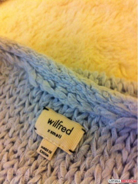 *sale =)* Aritzia Wilfred Baby Blue Knit Sweater XS