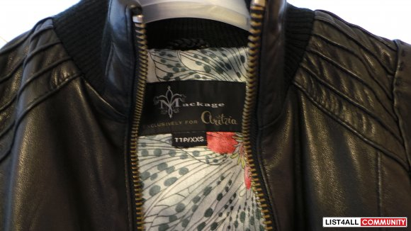 *sale =)* Mackage Aritzia Black Jerry Leather Jacket XXS