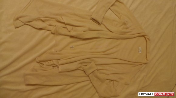Club Monaco Beige Cashmere Sweater Wrap XS-S