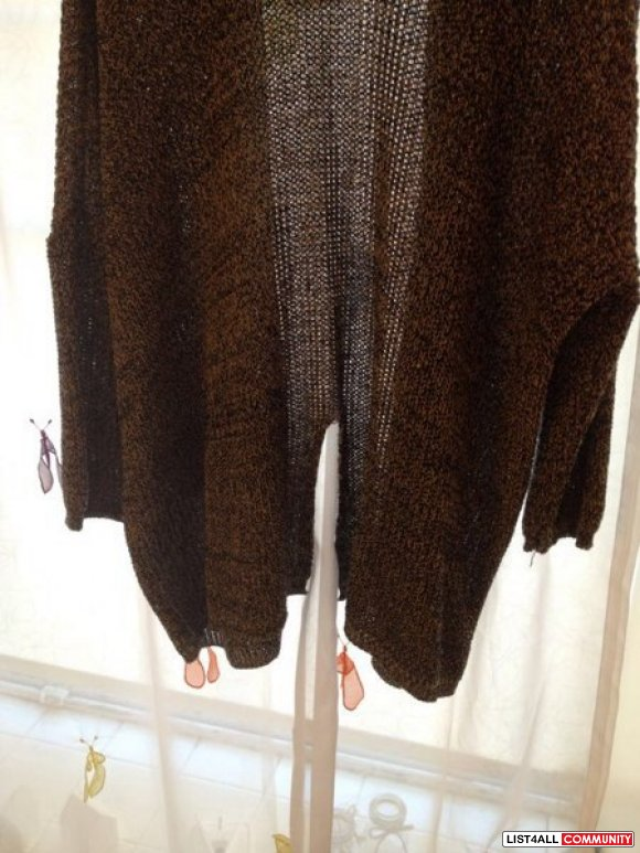 Boutique Bought Pepper Open Cardigan (Made in Korea) OS